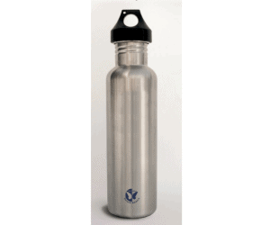 Tri-Vortex treated stainless steel water bottle