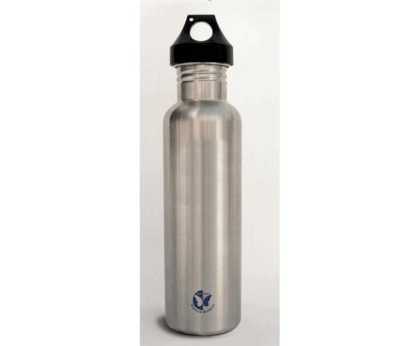 Tri-Vortex treated stainless steel water bottle